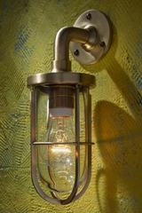 Docklight Wall polished bronze with clear glass. Nautic by Tekna.