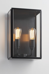 Essex City outdoor wall lamp 2 patinated bronze lights. Nautic by Tekna.
