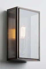 Essex Gauze outdoor wall light clear glass and fine bronze gauze. Nautic by Tekna.