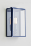 Essex navy blue lacquered exterior wall light. Nautic by Tekna.