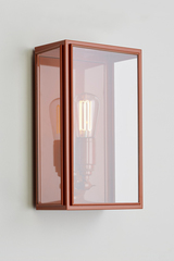 Essex orange lacquered outdoor wall lamp. Nautic by Tekna.
