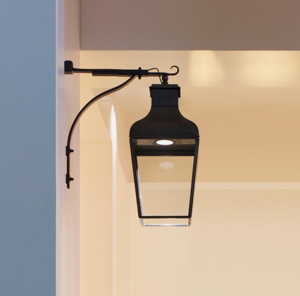 Wall Large Led Antique Bronze Lamp