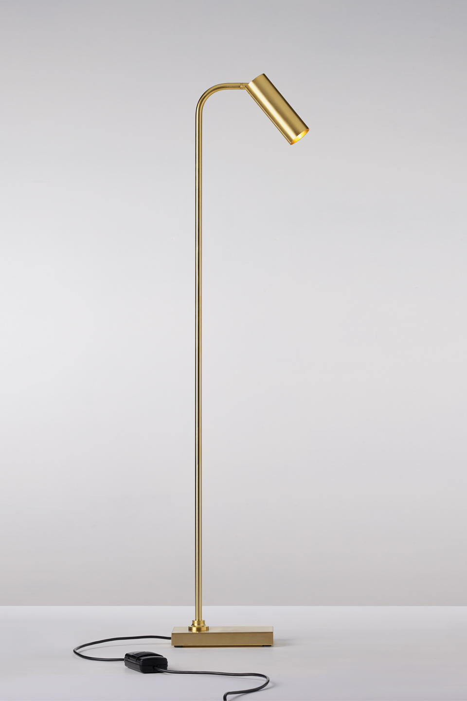 Marquesse Floor Lamp Reading Lamp In Matte Gold Metal Nautic By