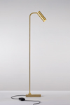 Marquesse floor lamp reading lamp in matte gold metal. Nautic by Tekna.
