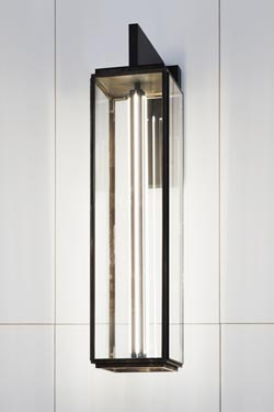 Grande applique Illford Wall On Bracket forme longue bronze antique.. Nautic by Tekna.