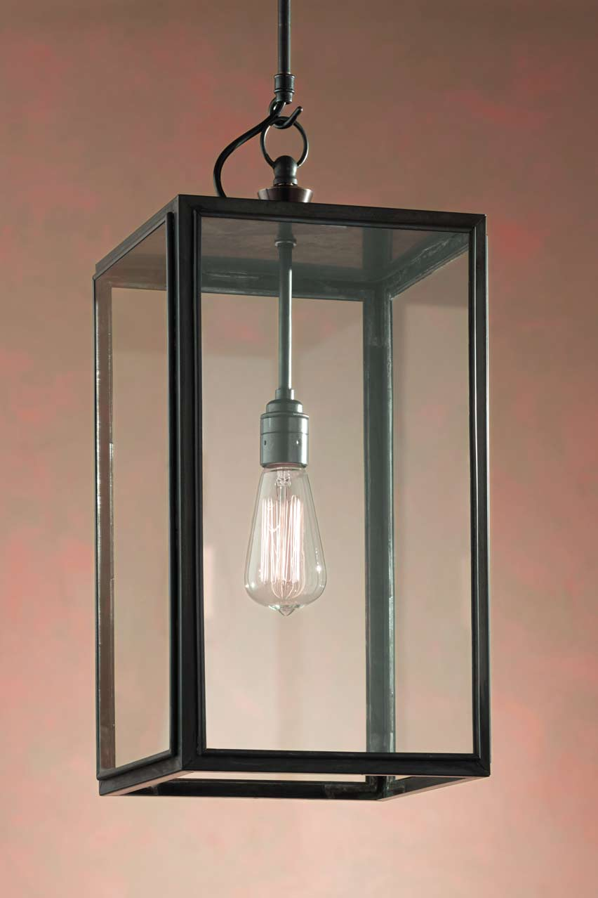 Ilford Closed Top suspension bronze antique verre clair. Nautic by Tekna.