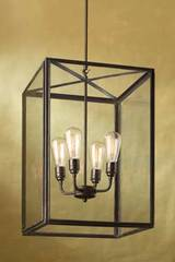 Ilford Large suspension bronze antique verre clair. Nautic by Tekna.