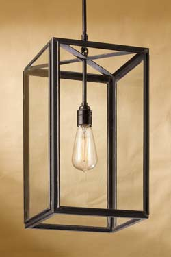 Ilford suspension bronze antique verre clair. Nautic by Tekna.