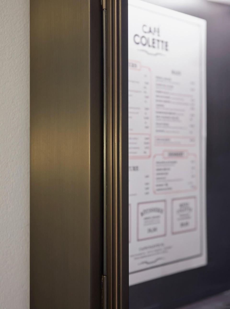 Applique porte menu pour restaurant format a4 nautic by tekna luminaires en bronze - Porte menu restaurant exterieur ...