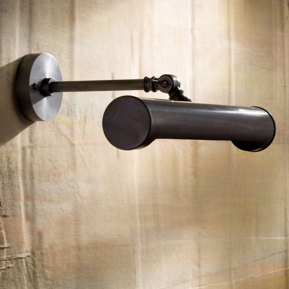 Lampe tableau bronze antique Picture Light Small LED. Nautic by Tekna.
