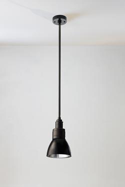 Loft suspension conique noire 60cm. Nautic by Tekna.