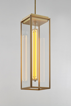 Ilford pendant in gilt bronze matte small model. Nautic by Tekna.