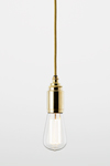 Thornpete minimalist pendant in polished bronze. Nautic by Tekna.