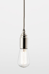 Thornpete minimalist pendant in polished nickel. Nautic by Tekna.