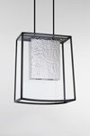 Trapeze pendant in black patinated bronze Penhall. Nautic by Tekna.