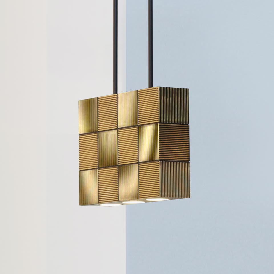 Pendeen suspension bronze antique patiné. Nautic by Tekna.