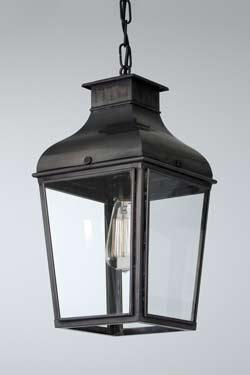 Petite suspension lanterne en bronze vieilli. Nautic by Tekna.