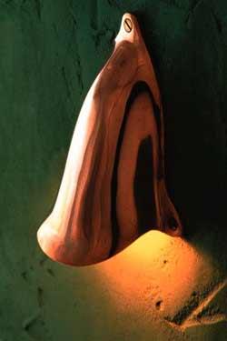 Shell light applique bronze poli. Nautic by Tekna.