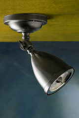 Lilley Shade on box 230V matt nickel-plated bronze spotlight. Nautic by Tekna.