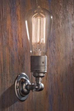 Thorn External Wall Lights : Thorne Pete matt chrome-plated bronze wall light - Nautic by Tekna - Classic Lighting Bronze ...