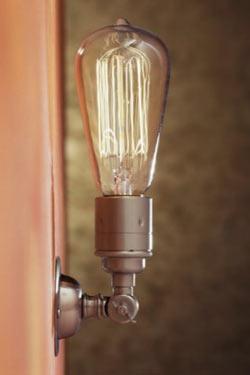 Thorn External Wall Lights : Thorne Pete matt nickel-plated bronze wall light - Nautic by Tekna - Classic Lighting Bronze ...