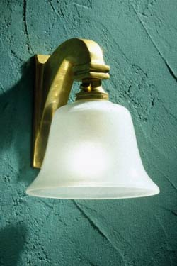 Bell Light 230V polished bronze. Nautic by Tekna.