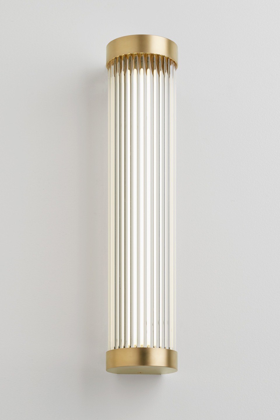 Mercer long Art Deco wall lamp with glass tube ROD. Nautic by Tekna.