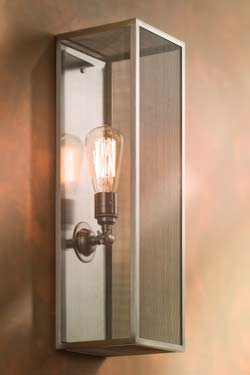 Musar 10 polished nickel-plated bronze wall light. Nautic by Tekna.