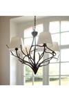 Bronze Art Nouveau Style 4-Light Chandelier. Objet insolite.