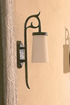 Patined bronze exterior wall lamp Marquise classic style. Objet insolite.