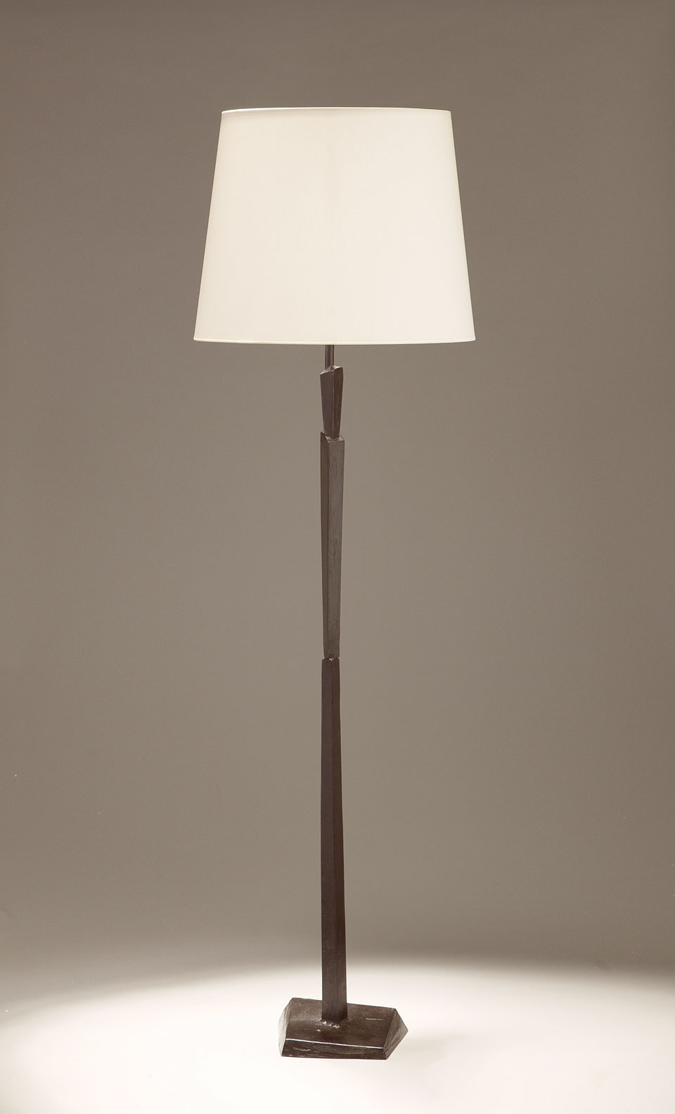 Image of: Cubist Black Patinated Bronze Floor Lamp Objet Insolite Hight Qualite Lighting Made In France Ref 17090397