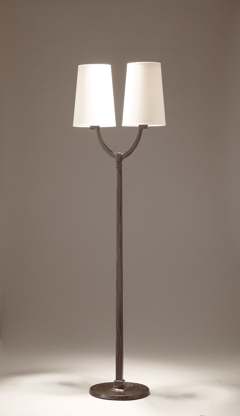 Image of: 2 Lights Black Patinated Bronze Floor Lamp Perceval Objet Insolite Hight Qualite Lighting Made In France Ref 17090390