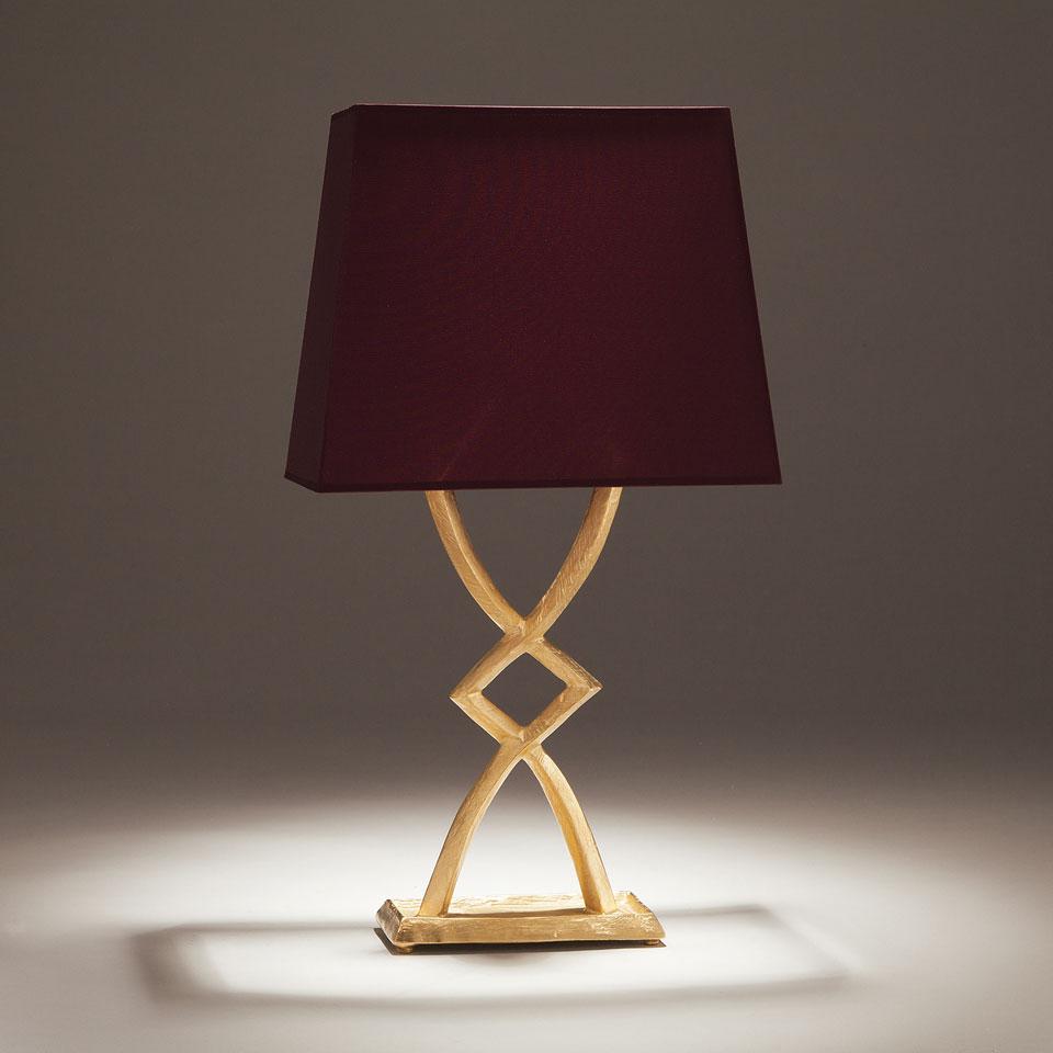 Lampe de table en bronze doré Mona petit modèle. Objet insolite.