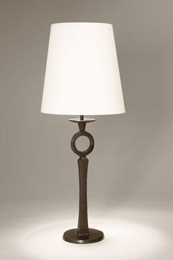 Lampe de table forme chandelier en bronze massif Diego. Objet insolite.