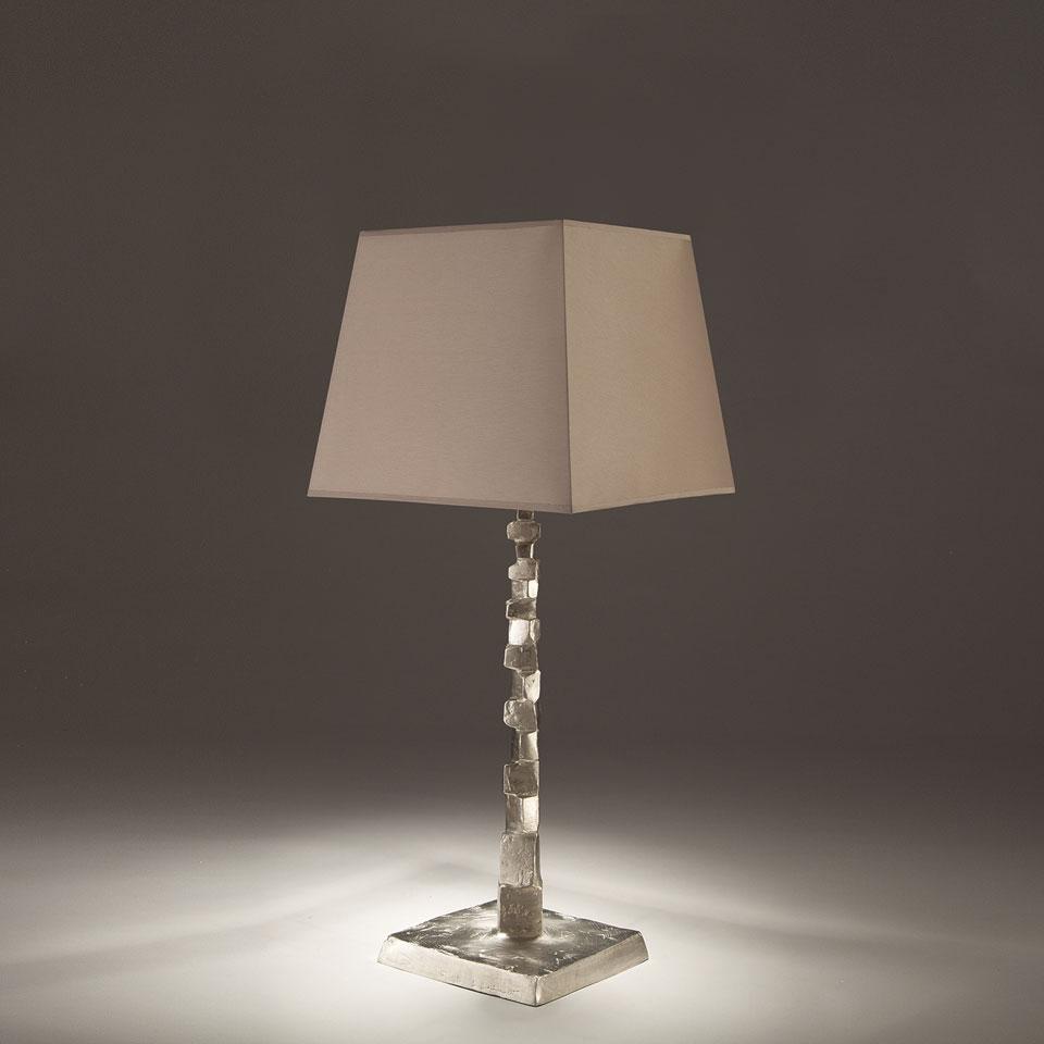 Fragile solid bronze satin nickel table lamp objet for Objet insolite lighting