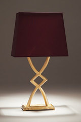 Mona gilded bronze table lamp small model. Objet insolite.