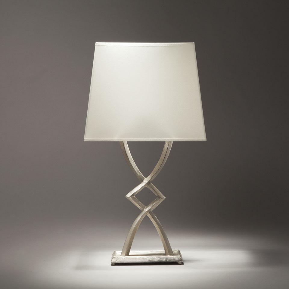 Mona Satin Nickel Bronze Table Lamp Small Model Objet Insolite