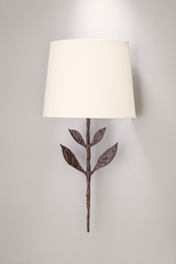 Large patined black wall lamp Silva. Objet insolite.