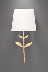 Small gilded solid bronze wall lamp Silva. Objet insolite.