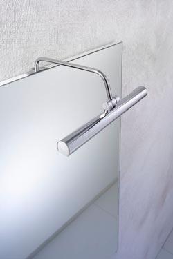 Applique pour miroir ou tableau 30cm chromée. Oma Illuminazione.