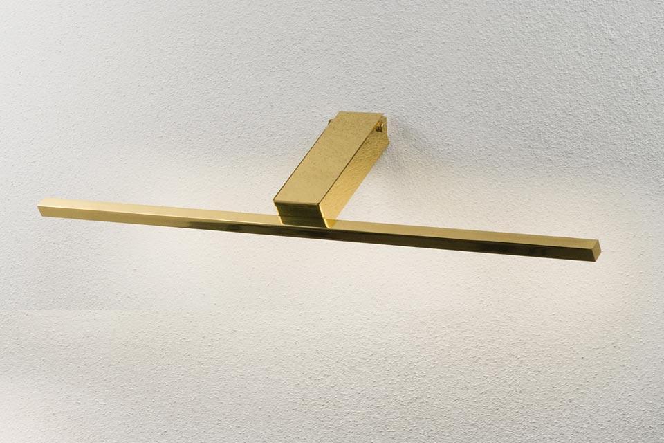Applique pour tableau ou miroir à Led or 18 carat 60cm. Oma Illuminazione.