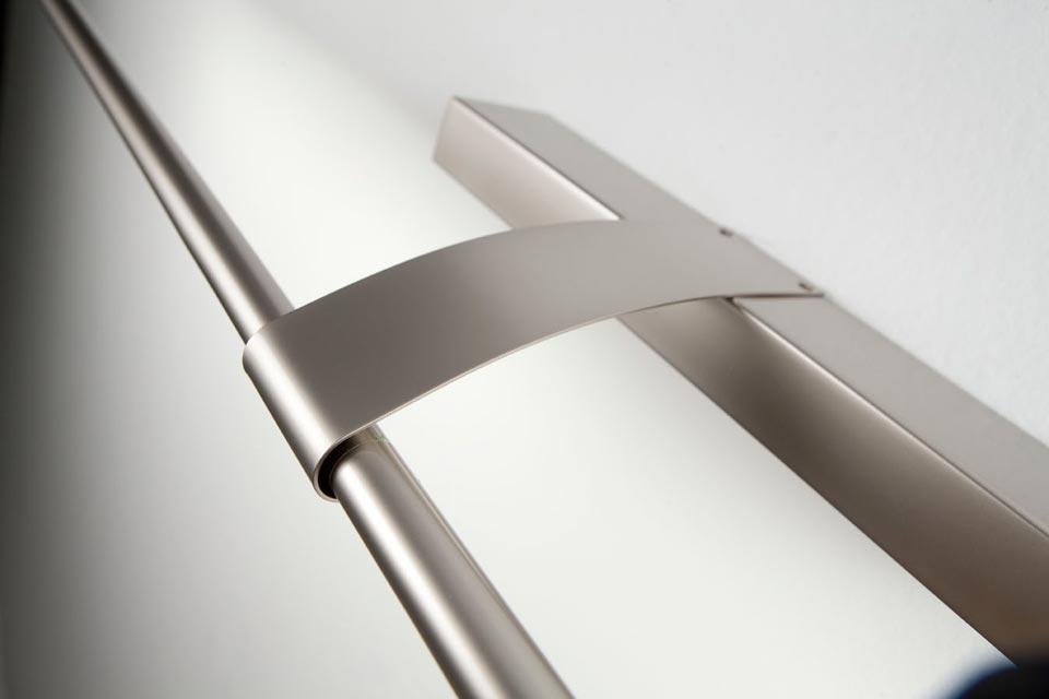 grande applique pour tableau et miroir 125cm nickel satinee contemporain metal silver design eclairage 15100065R Résultat Supérieur 15 Beau Applique Led Miroir Photographie 2017 Ldkt