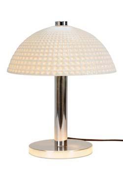 Cosmo Dimple lampe de bureau blanche et chromée. Original BTC.