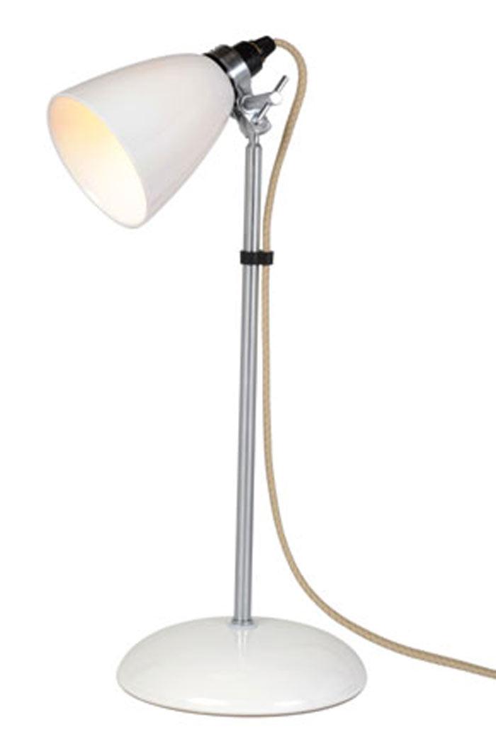 Hector lampe de table petite verrerie blanche. Original BTC.
