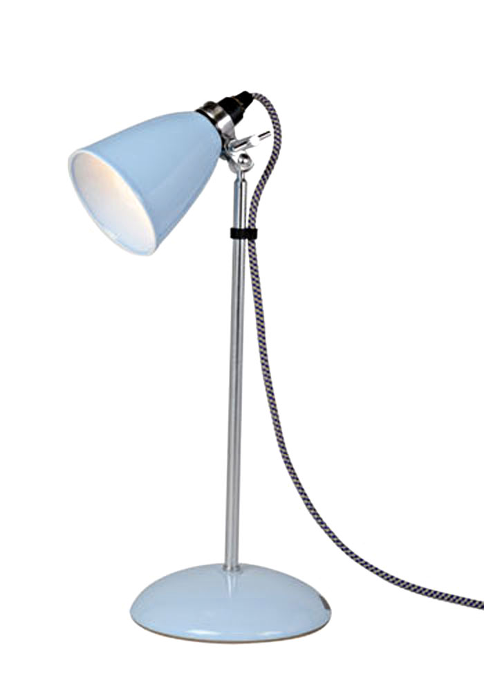 Hector lampe de table petite verrerie bleue. Original BTC.