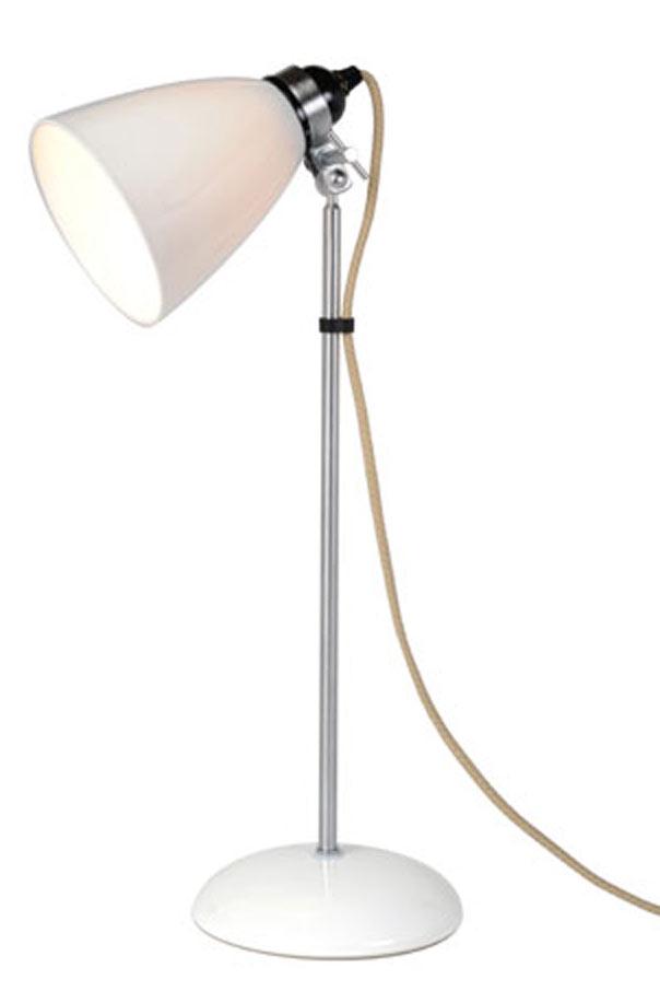 Hector lampe de table verrerie moyenne blanche. Original BTC.