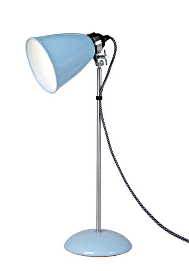 Hector lampe de table verrerie moyenne bleue. Original BTC.