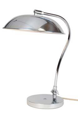 Hugo lampe de bureau chromée. Original BTC.