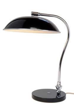 Hugo lampe de bureau noire. Original BTC.