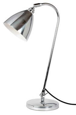 Lampe de bureau chrome Task Solo . Original BTC.